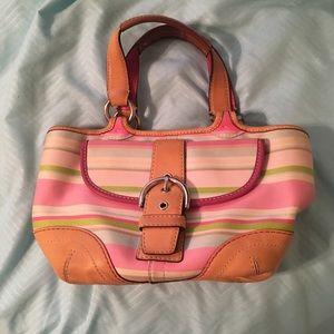 Coach multicolor stripe bag